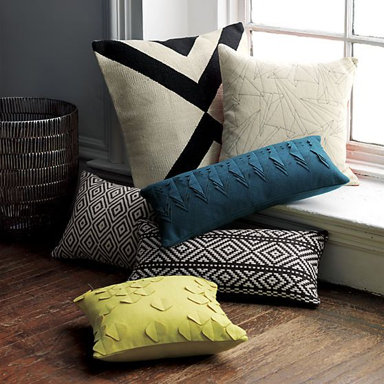 cb2 fall pillows