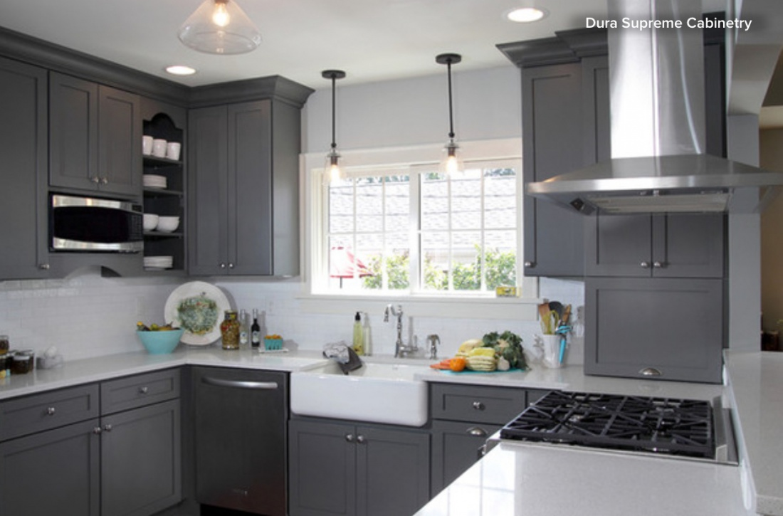 Kitchen Cabinets Beyond White Visual Jill - Medium grey kitchen cabinets