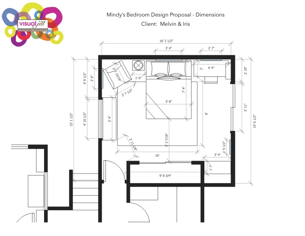 Mindy's Bedroom Design Proposal_Dimensions