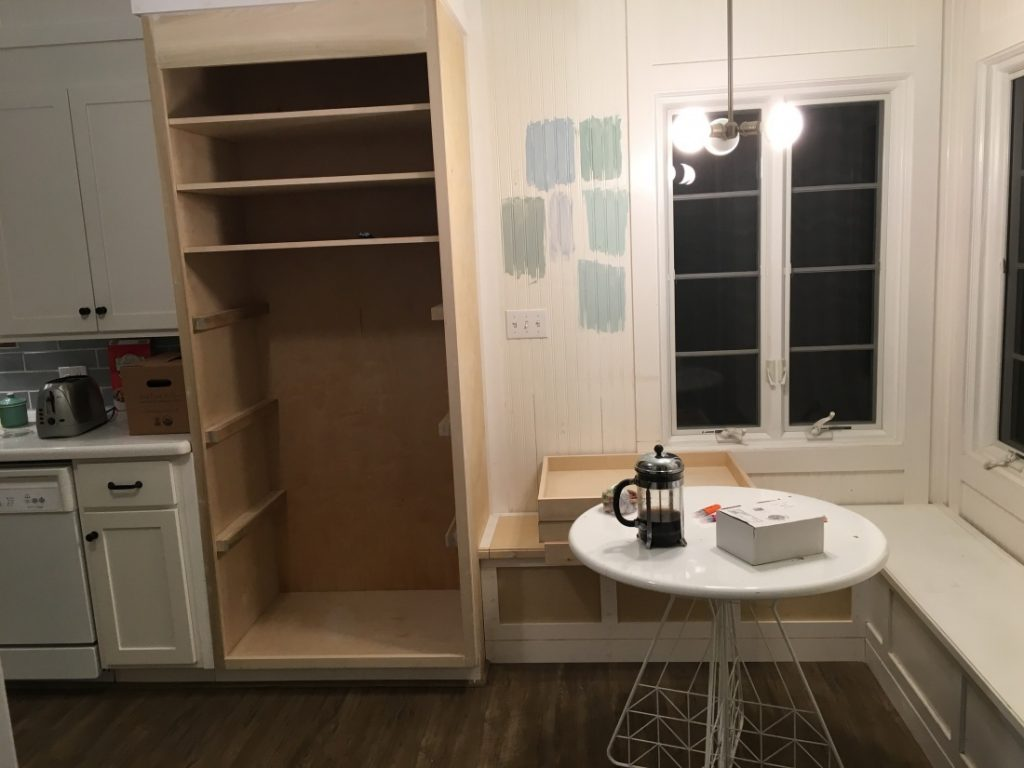 LW kitch eat-in pantry progress