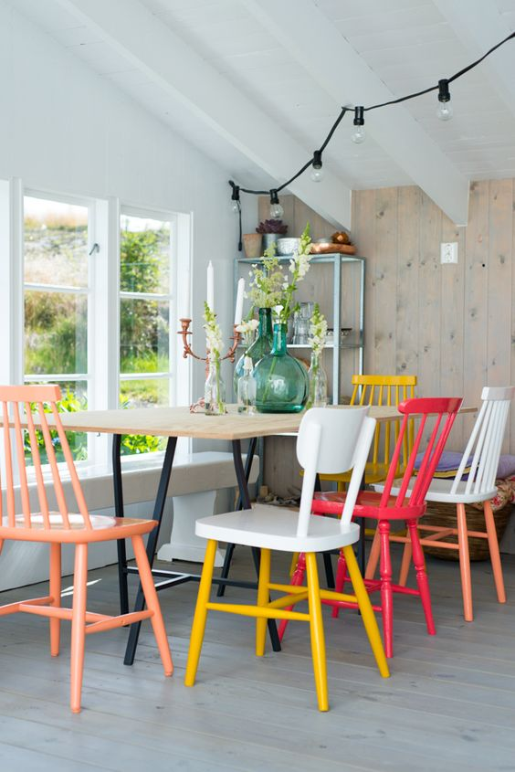 windsor painted chairs
