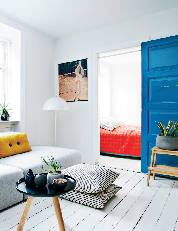 blue interior door